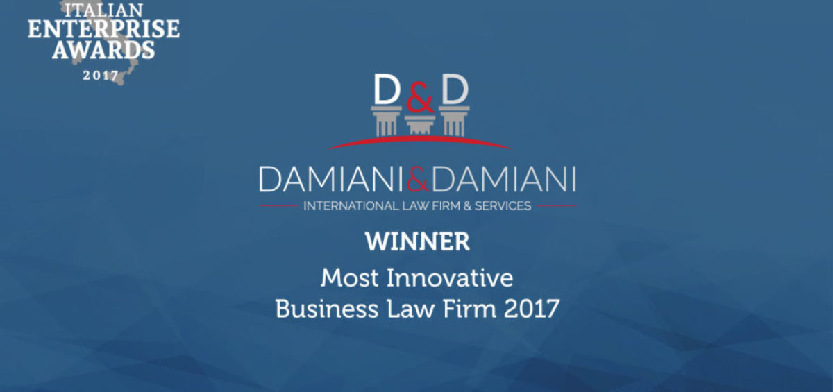 Italian Enterprise Awards for Damiani & Damiani International Law Firm