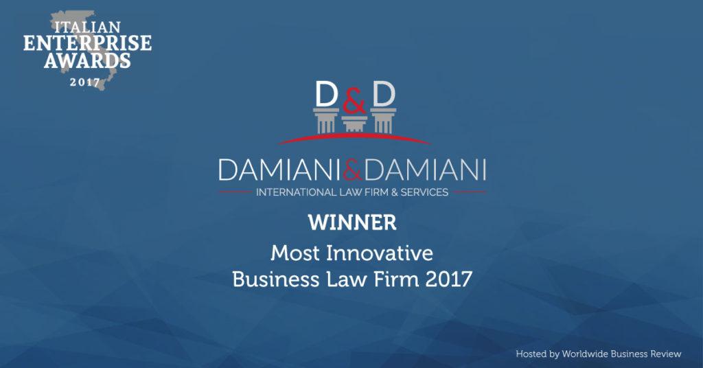 Premio internazionale per lo studio Damiani&Damiani. Il migliore nel settore legale